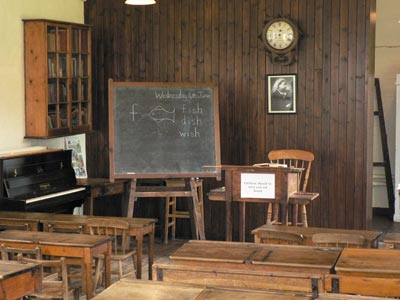Victorian classroom at Gressenhall Museum of Norfolk Life