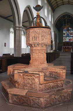 The font at St Mary's