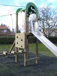 new climbing frame and slide at Walsingham Recreation Ground