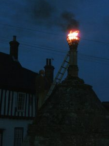 Lighting the Beacon in Walsingham 21 April 2016